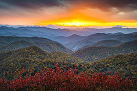Blue Ridge Parkway Autumn Sunset